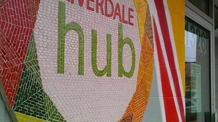 Riverdale Hub signage