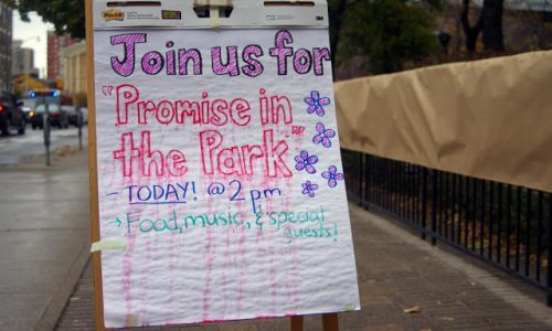 Promise in the Park signage