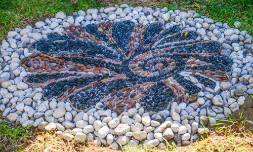 Small mosaic at Pikwakanagan First Nation, Ontario