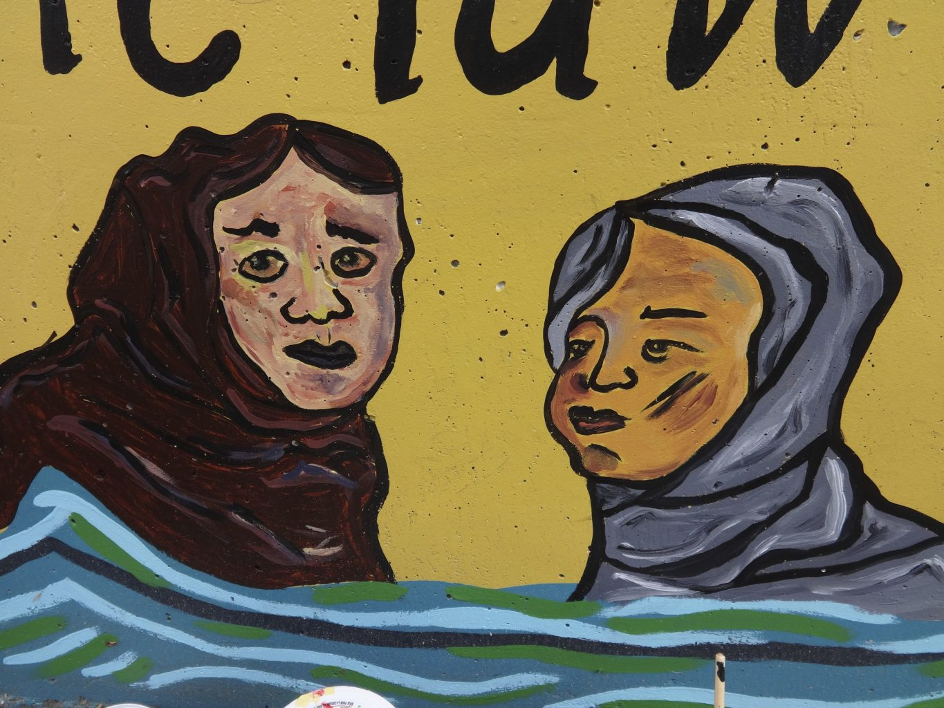 Painting of two muslim women