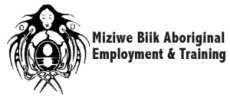 [Image description: The logo for Miziwe Biik Aboriginal Employment and Training]