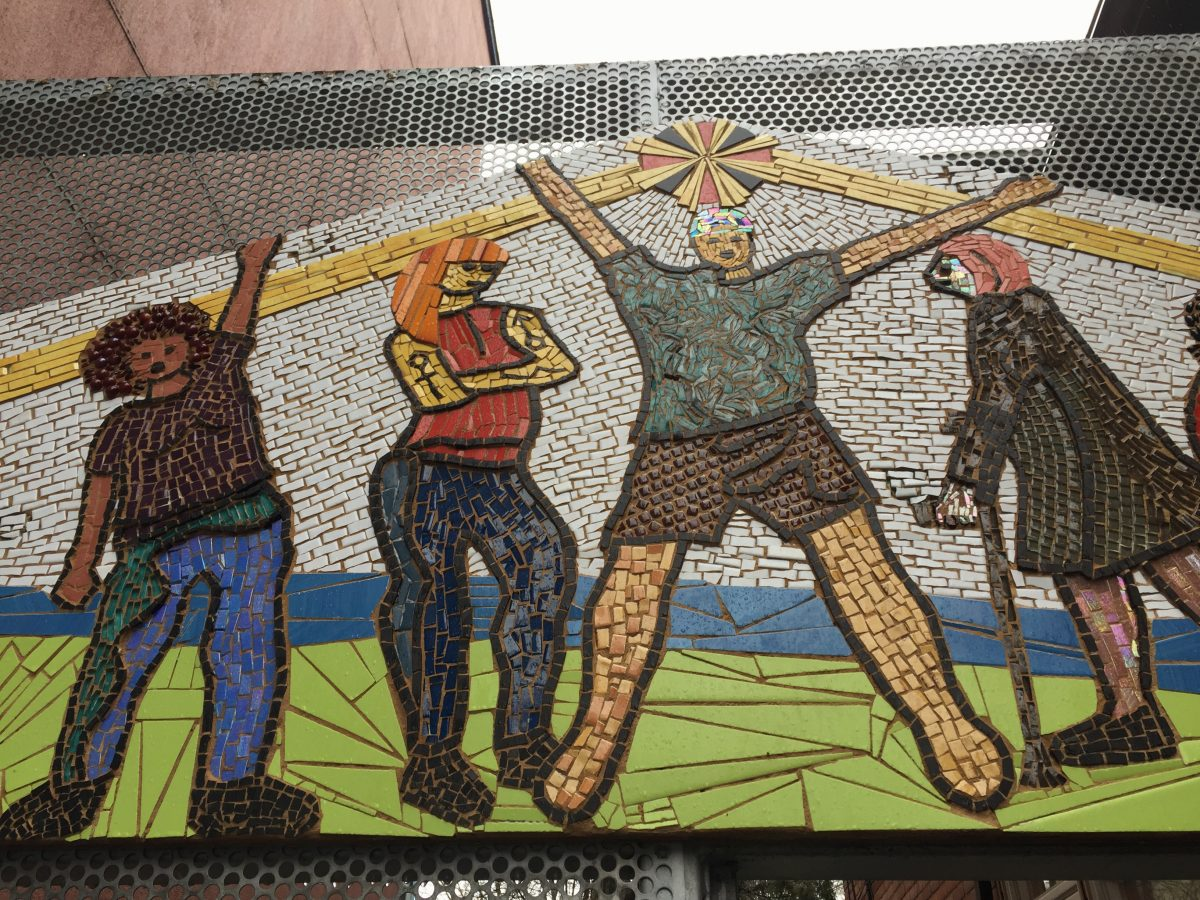 Detail from Street Health mosaic