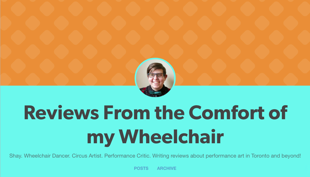 Reviews from the comfort of my wheelchair