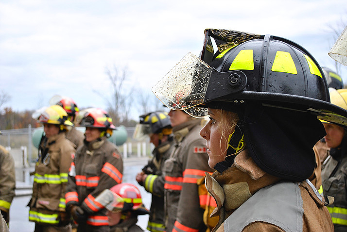 Profile of female fireghter