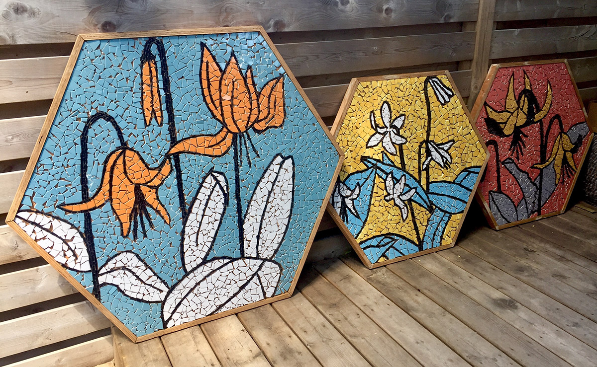 To the Table mosaic tabletops
