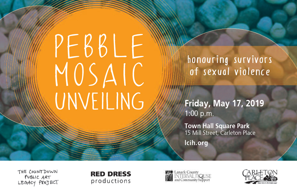 Pebble Mosaic Unveiling: Lanark County, May 17, 2019