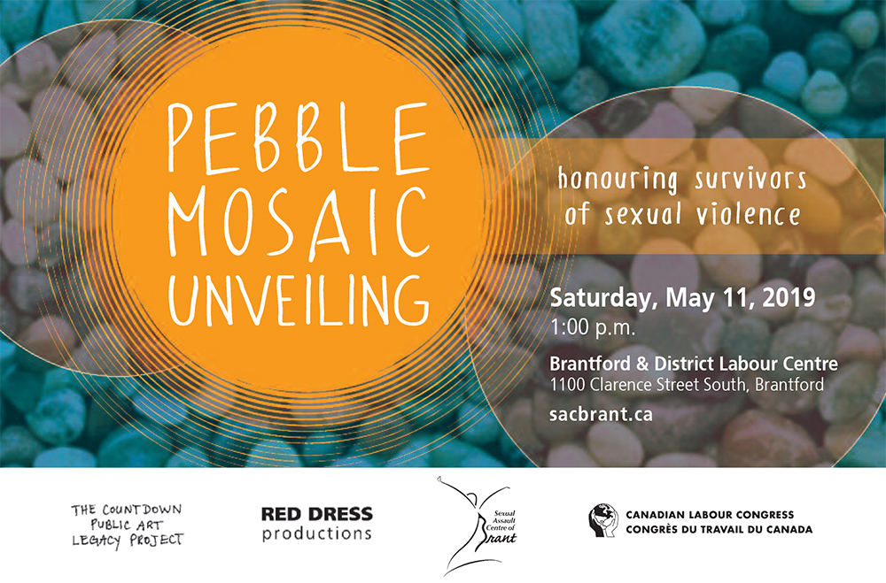 Pebble Mosaic Unveiling: Sexual Assault Centre of Brant, May 11, 2019