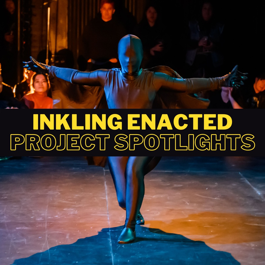 "Inkling Enacted Project Spotlights promo photo: photo features Steff Juniper performing in ""A Creature, Untamed"""