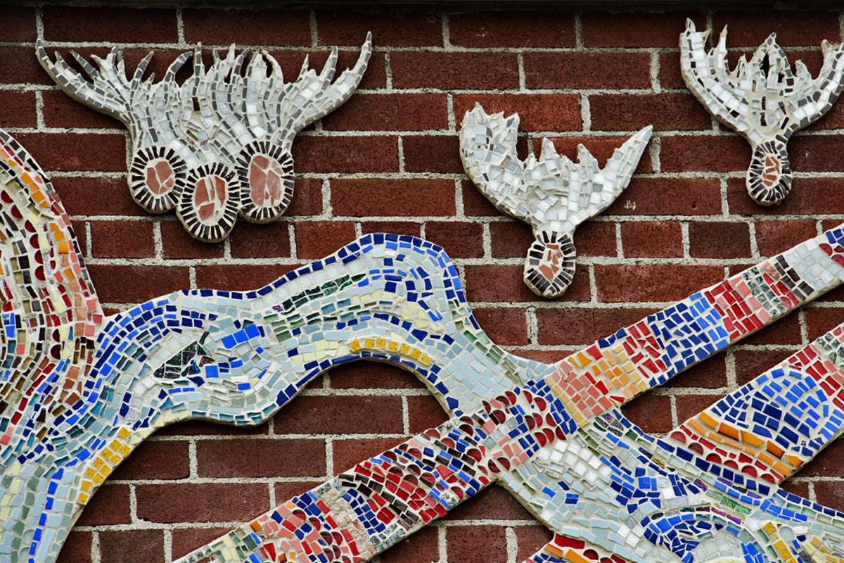 Pembroke Mosaic close-up. Photo by Doug De La Matter